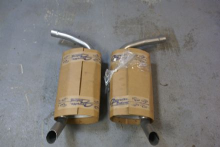 "2"" Oval Muffler (Pair),41955, New 1974-79"